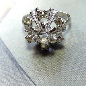 ART DECO Ring size 7 Sterling made by Uncas Vintag